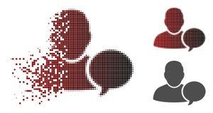 Icône déchiquetée de Dot Halftone User Hint Balloon illustration libre de droits