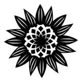 Icône décorative de fleur, style simple Illustration de Vecteur