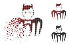 Icône détruite de Dot Halftone Manager Spectre Devil illustration libre de droits