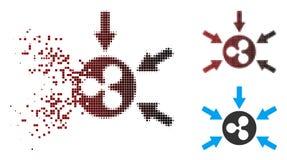 Icône détruite de Dot Halftone Ripple Income Arrows Illustration Libre de Droits