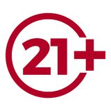 Icône d'âge de limite sur le fond rouge Illustration plate de vecteur de limite d'âge d'icônes Images libres de droits