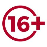 Icône d'âge de limite sur le fond rouge Illustration plate de vecteur de limite d'âge d'icônes Photographie stock
