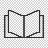 Icône d'éducation de livre dans le style plat Vecteur IL de magazine de littérature illustration de vecteur