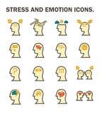 Icône d'émotion d'effort illustration stock