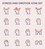 Icône d'émotion d'effort illustration libre de droits