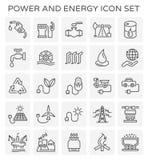 Icône d'énergie de puissance illustration libre de droits