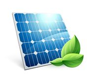 icône d'énergie de vert de panneau solaire illustration de vecteur