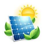 icône d'énergie de vert de panneau solaire illustration stock