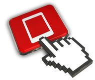 Icône d'étiquette Photo stock