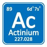 Icône d'actinium d'élément de table périodique Image libre de droits