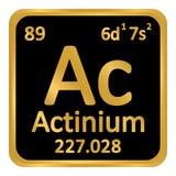 Icône d'actinium d'élément de table périodique Photographie stock