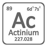 Icône d'actinium d'élément de table périodique Illustration de Vecteur