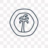 Icône d'Afrique occidentale française de vecteur de franc d'isolement sur le Ba transparent illustration stock