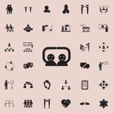 icône d'amis de poignée de main Ensemble détaillé d'icônes de conversation et d'amitié Signe de la meilleure qualité de conceptio illustration stock