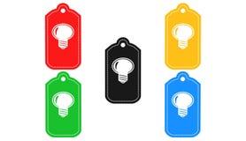 Icône d'ampoule, signe, 3D illustration, la meilleure icône Photo stock