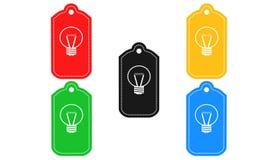 Icône d'ampoule, signe, 3D illustration, la meilleure icône Images libres de droits