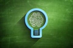 Icône d'ampoule sur le tableau noir illustration de vecteur
