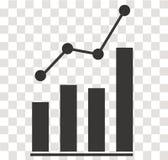 Icône d'Analytics sur transparent Signe d'Analytics Style plat Photo stock