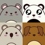 Icône d'animal de Kawaii Images stock