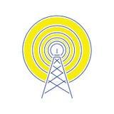 Icône d'antenne par radio illustration de vecteur
