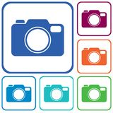 Icône d'appareil-photo de photo Photos libres de droits
