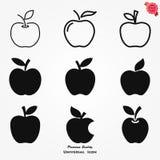 Icône d'Apple, illustration de fruit de vecteur, nourriture saine illustration stock