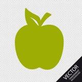Icône d'Apple - illustration verte de vecteur - d'isolement sur le fond transparent illustration stock