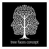 Icône d'arbre de visages Photographie stock