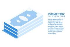 Icône d'argent Calibre isométrique pour le web design dans le style 3D plat Illustration de vecteur images stock