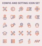Icône d'arrangement de config illustration stock
