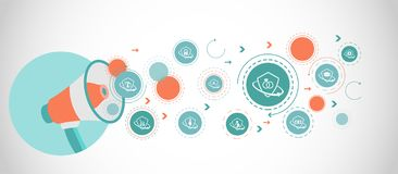 icône d'assurance de contrat de mariage De l'ensemble d'assurance illustration stock