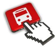 Icône d'autobus Photos stock