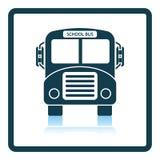 Icône d'autobus scolaire illustration libre de droits