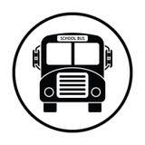 Icône d'autobus scolaire illustration de vecteur