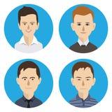 Icône d'avatar de visage Photos stock