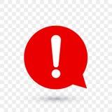 Icône d'avertissement de vecteur d'une attention de marque d'exclamation illustration de vecteur