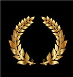 Icône d'or de guirlande de laurier illustration libre de droits