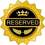 Icône d'or de luxe réservée d'insigne illustration libre de droits
