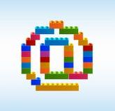 Icône d'email des blocs du constructeur illustration de vecteur