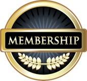 Icône d'emblème de label de noir d'adhésion illustration libre de droits