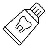 Icône d'ensemble de pâte dentifrice Concept de soins dentaires Icône de vecteur d'isolement sur le blanc ENV 10 Images libres de droits