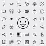 Icône d'ensemble de sourire d'émotion Ensemble détaillé de ligne minimalistic icônes Conception graphique de la meilleure qualité illustration libre de droits
