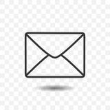 Icône d'enveloppe d'arrière Photos libres de droits