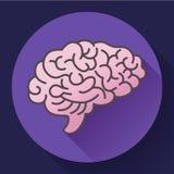 Icône d'esprit humain, symbole d'intellect, étude, étude et éducation illustration stock