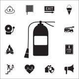 Icône d'extincteur Ensemble détaillé d'icônes de garde du feu Signe de la meilleure qualité de conception graphique de qualité Un illustration de vecteur