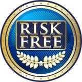 Icône d'or gratuite de label de risque illustration de vecteur