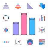 icône d'histogramme 3D Ensemble détaillé d'icônes de diagrammes et de Diagramms Signe de la meilleure qualité de conception graph Illustration de Vecteur