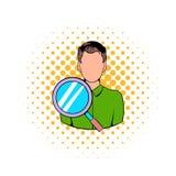 Icône d'homme d'affaires et de loupe illustration libre de droits