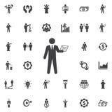 Icône d'homme d'affaires sur le blanc illustration libre de droits