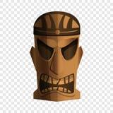 Icône d'idole de tribu, style de bande dessinée illustration de vecteur